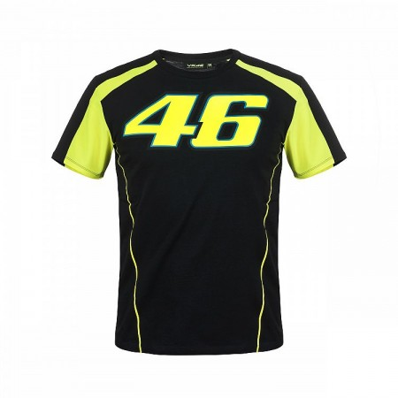 T-Shirt VR46 Black/Yellow