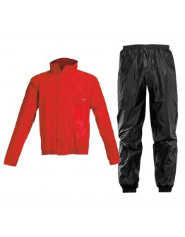 Acerbis Rain Suit Logo Black/Red