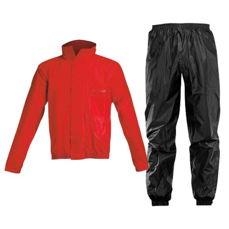Acerbis Rain Suit Logo Black/Red