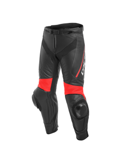 Delta 3 Leather Pants Black/Fluo-Red