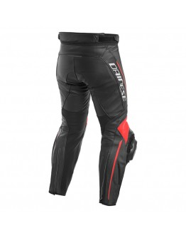 Dainese Delta 3 Leather Pant Black/Fluo-Red