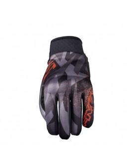 Five Globe Replica Camo Gloves Fluo Red