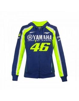 Woman Yamaha VR46 Hoodie Blue