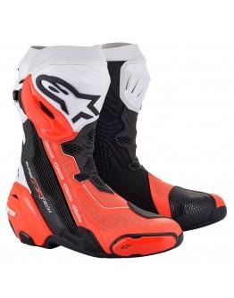 Alpinestars Μπότες Supertech R Vented Black/White/Red Fluo