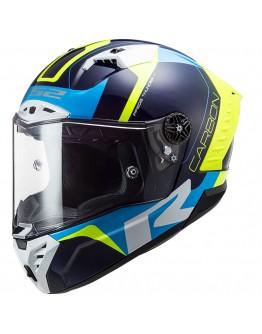 LS2 FF805 Thunder Racing 1 Blue H-V Yellow