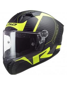 LS2 FF805 Thunder Racing 1 Matt H-V Yellow