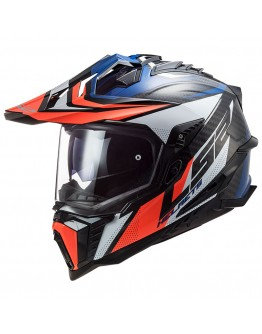 LS2 MX701 C Explorer Carbon Focus Blue/White/Red