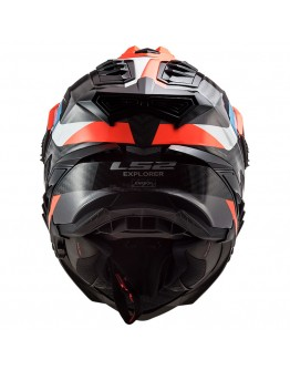 LS2 MX701 C Explorer Carbon Frontier Black/Fluo Orange