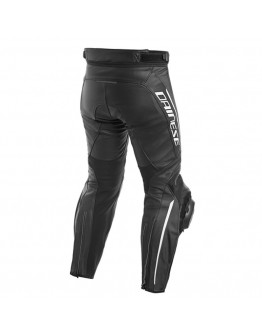 Dainese Delta 3 Leather Παντελόνι Black/Black/White