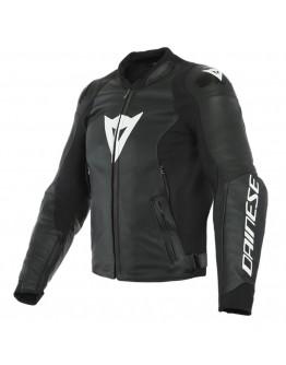 Dainese Sport Pro Leather Jacket Black/White