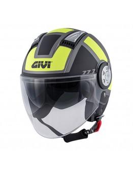 Givi 11.1 Air Jet-R Mat Titanio/Black/Fluo Yellow