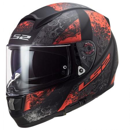 LS2 FF397 Vector HPFC Evo Swipe Matt Black Red