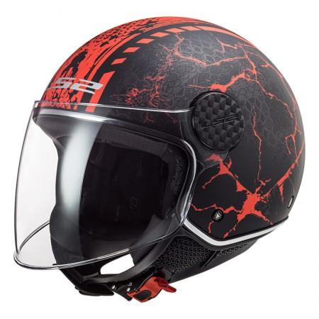 LS2 OF558 Sphere Lux Snake Matt Black Red