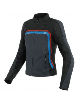 Dainese Lola 3 Lady Leather Jacket Black/Ebony/Red/Blue