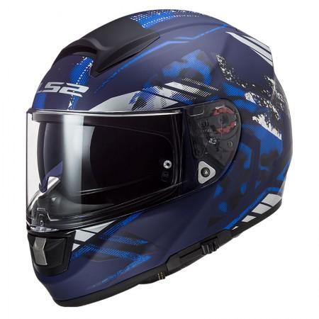 LS2 FF397 Vector HPFC Evo Stencil Matt Blue