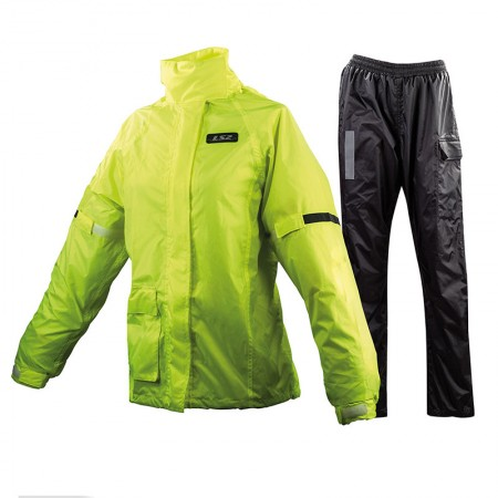 LS2 Tonic Lady Rain Suit Black/Yellow