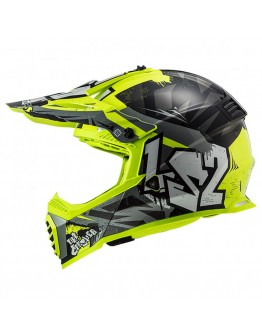 LS2 MX437J Fast Mini Evo Crusher Black HV Yellow