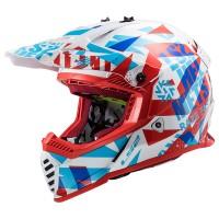 LS2 MX437 Evo Funky Red White