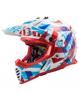 LS2 MX437 Evo Funky Red White
