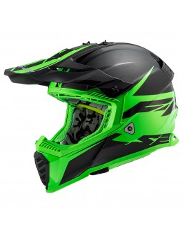 LS2 MX437 Evo Roar Matt Black Green