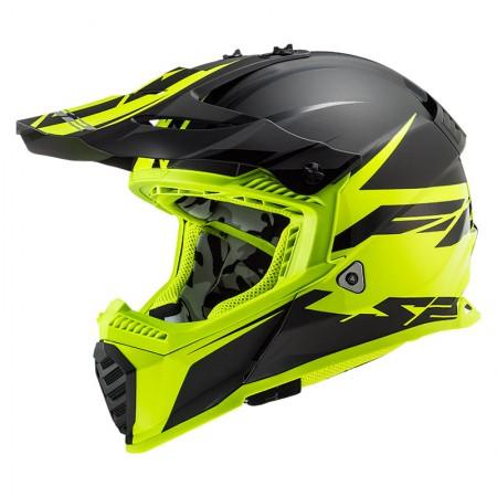 LS2 MX437 Evo Roar Matt Black HV Yelow