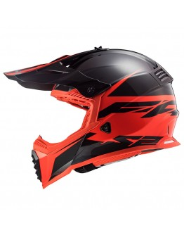 LS2 MX437 Evo Roar Matt Black Red