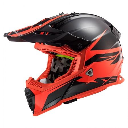 LS2 MX437 Evo Roar Matt Black Red