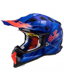 LS2 MX470 Subverter Troop Matt Blue Fluo Orange