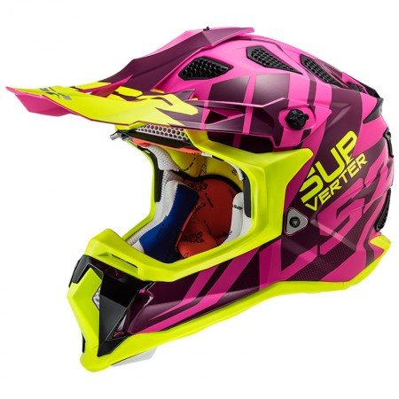 LS2 MX470 Subverter Troop Matt Pink HV Yellow