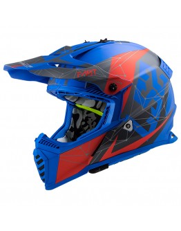 LS2 MX437 Evo Alpha Matt Blue