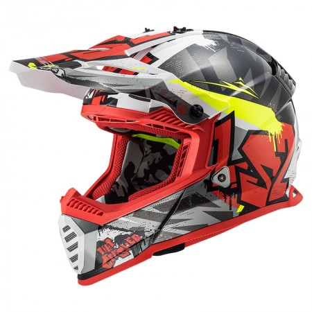 LS2 MX437 Evo Crusher Black Red