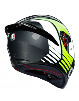 AGV K1 Power Gunmetal/White/Green