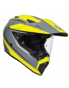 AGV AX9 Pacific Road Matt Grey/Yellow Fluo/Black