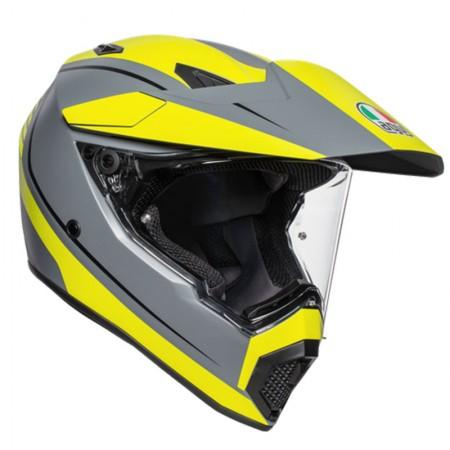 AGV AX9 Pacific Road Matt Grey/Yellow Fluo/Black