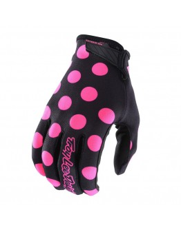 TLD Γάντια Air Polka Dot Black/Flo Pink