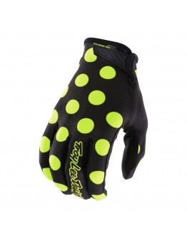 TLD Γάντια Air Polka Dot Black/Flo Yellow