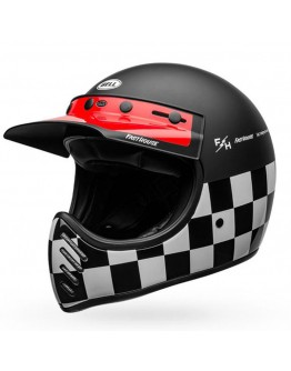 Bell Moto 3 Fasthouse Checkers Matt Black/White/Red