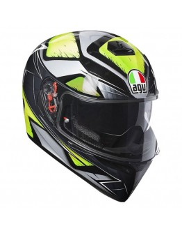AGV K3 SV Liquefied Gray/Yellow-Fluo