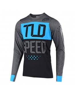 TLD MTB Skyline Speedshop LS Jersey Heather Charcoal/Ocean