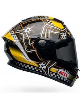 Bell Star Mips DLX Lux Isle Of Man Black/Yellow