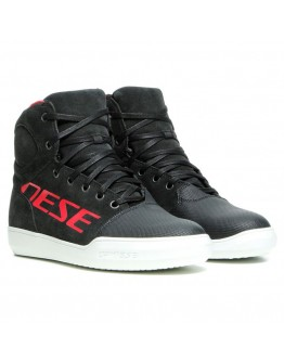 Dainese York D-WP Shoes Dark-Carbon/Red