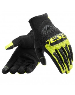 Dainese Bora Textile Γάντια Black/Fluo-Yellow