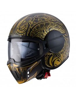 Caberg Ghost Maori Black Matt/Gold