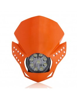 Acerbis Μάσκα Fulmine Led Orange