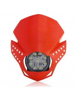 Acerbis Μάσκα Fulmine Led Red