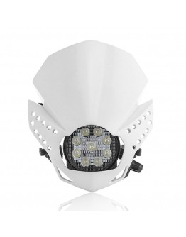 Acerbis Μάσκα Fulmine Led White