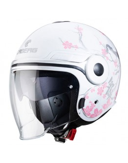 Caberg Uptown Bloom White/Silver/Pink