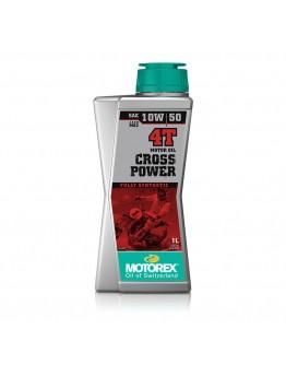 Motorex Λάδι 4T Cross Power 10W/50 100% Συνθετικό 1lt