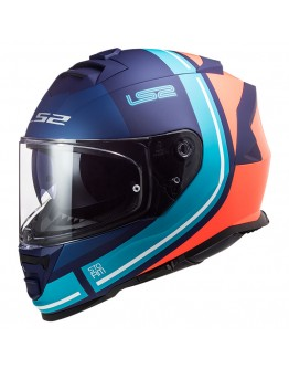 LS2 FF800 Storm Slant Matt Blue Fluo Orange