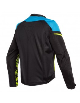 Dainese Bora Air Tex Jacket Black/Fire-Blue/Fluo-Yellow